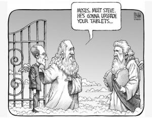 Steve-Jobs-Upgrades-Moses-Tablets-300x233